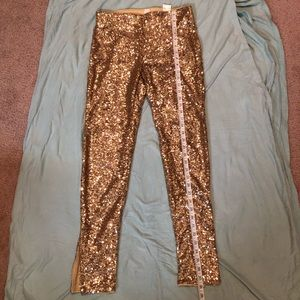H&M Gold Sequin Pants